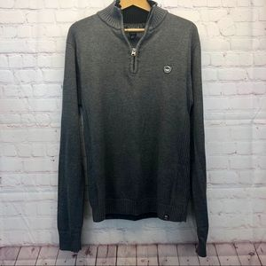 David Bitton Buffalo Quarter Zip Gray Sweater
